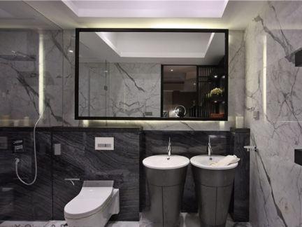 于强设计_鼎峰源著别墅样板房卫生间设计作品