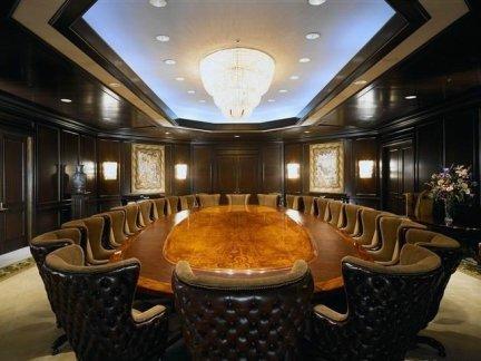 现代奢华会议室吊顶效果图