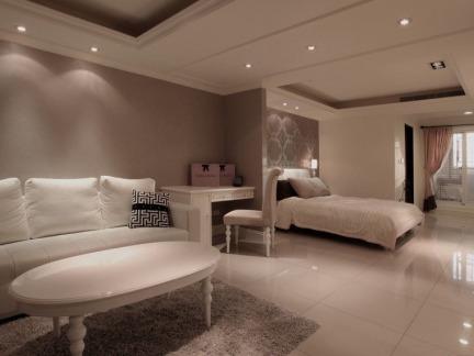 家居客厅卧室一体装修设计
