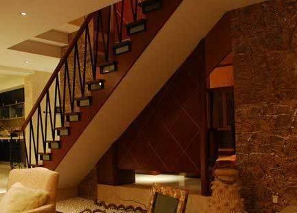 香蜜湖(复式)一号客厅楼梯-高文安作品