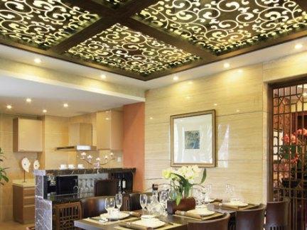 中式餐厅吊顶装修效果图 - 业之峰装饰