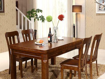 餐厅家用实木餐桌效果图