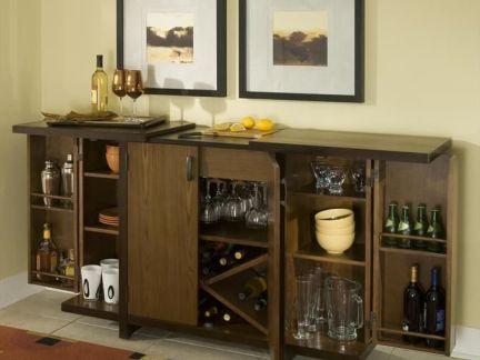 家庭餐厅酒柜装修图