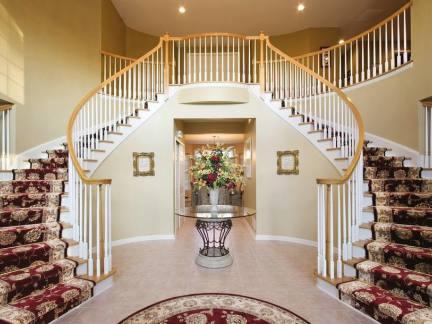 法式别墅楼梯图片