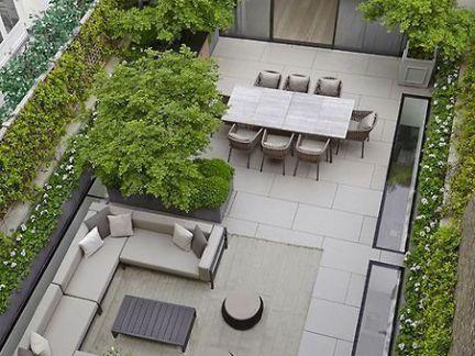 现代风格屋顶花园设计效果图