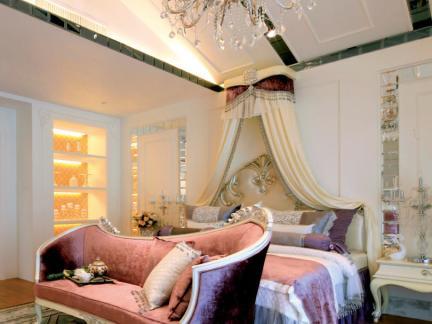 美式别墅家装时尚卧室效果图