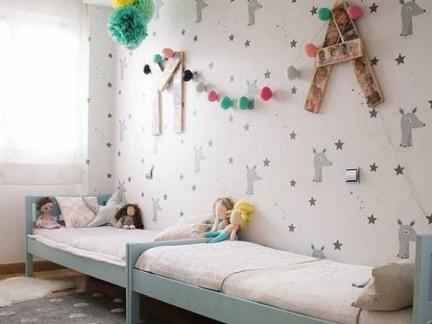 简单儿童房可爱墙纸