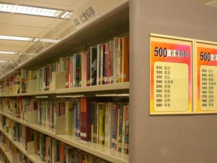 图书馆书架局部图片