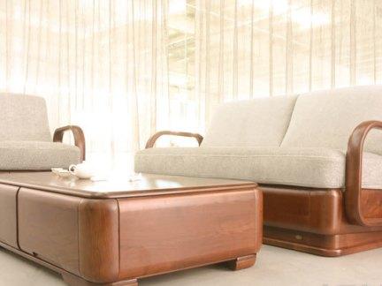双叶实木家具沙发图片-2017金丝楠木家具沙发图片 房天下装修效果图