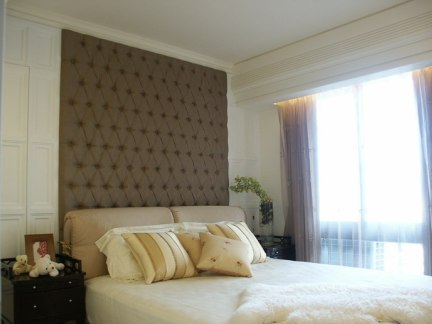 简欧装修卧室软包床头欣赏图片