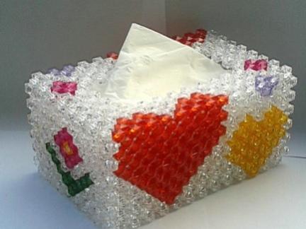 装修设计串珠纸巾盒图片