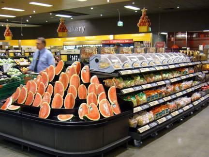 国外蔬菜店装修效果图