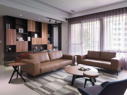 70平米简约风格公寓装修效果图