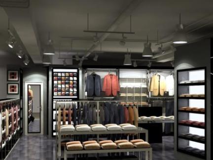 30平米服装店的效果图男装店