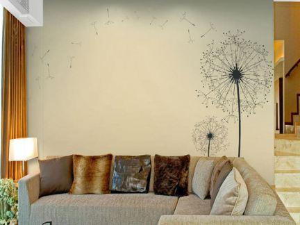 简约客厅墙布效果图