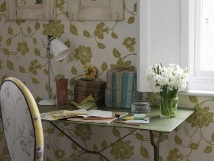 欧式花纹壁纸装饰效果图欣赏