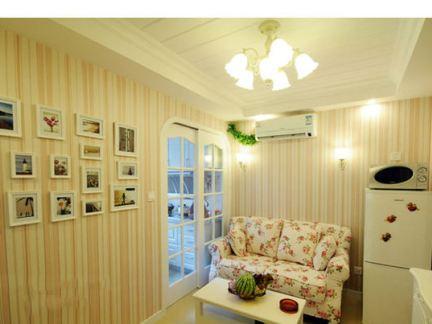 50平小户型田园温馨一居室