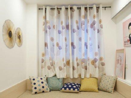 美式飘窗窗帘图片-2017飘窗窗帘效果图 房天下装修效果图