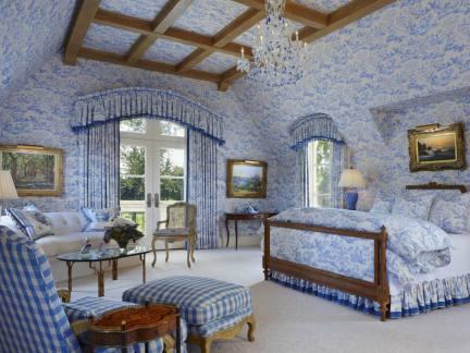 田园风蓝色房间