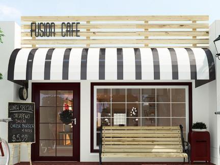 咖啡厅门面设计装饰图片