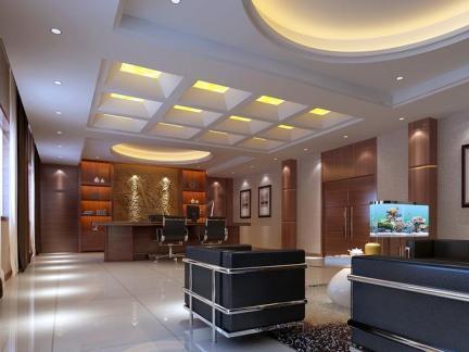 办公室石膏吊顶装饰设计效果图片欣赏