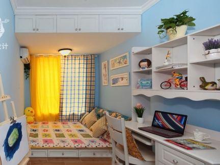 田园风格家庭带卧室书房装修效果图