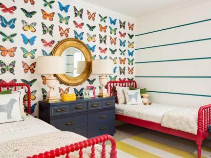 双儿童房可爱的墙纸图片