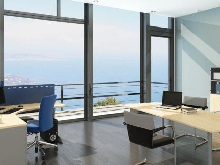 办公室室内落地窗装饰效果图欣赏