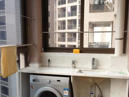 家庭阳台洗衣池效果图