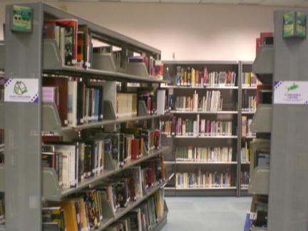 室内图书馆书架效果图