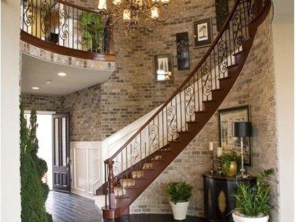 复式农村小别墅楼梯设计效果图