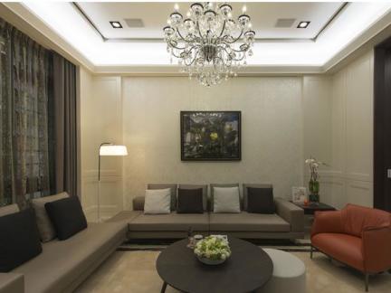 100平米现代两居室内家装效果图