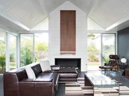 现代装饰客厅电视背景墙图片