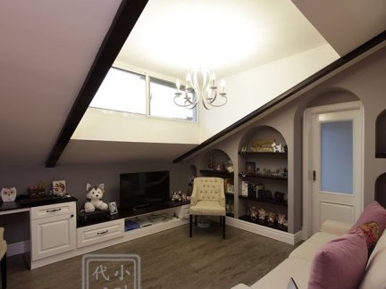 家居室内阁楼吊顶效果图