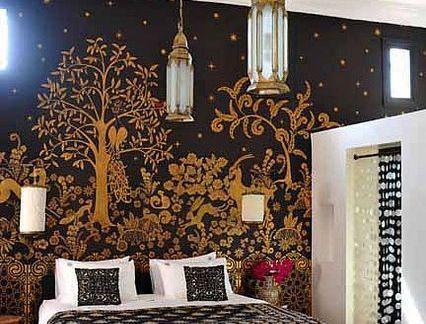 卧室壁纸装饰墙效果图