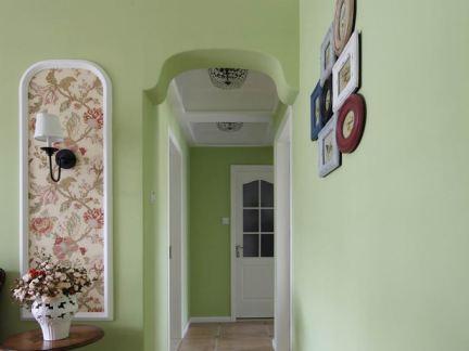 田园家装绿色装修室内走廊效果图
