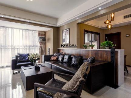 97平米田园风格两室一厅户型装修图片欣赏