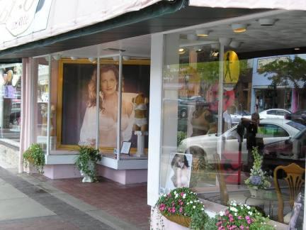 现代内衣店门头装修设计图片