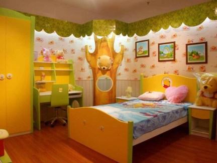 混搭儿童房上下铺木床
