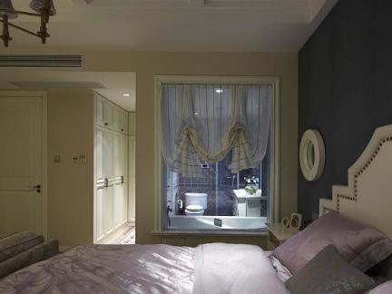 现代美式装饰卧室窗户图大全