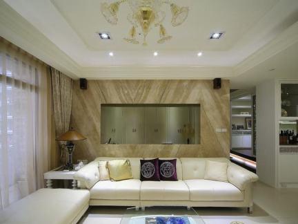 美式沙发背景墙设计