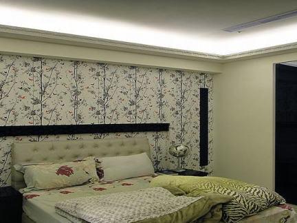 简欧卧室床头背景墙大全图片