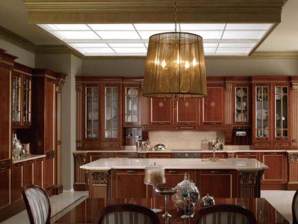 美式家庭装修厨房效果图2014图片