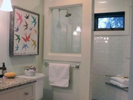 卫生间淋浴间隔断窗户