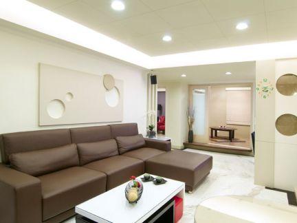85平米简约两室一厅室内装修效果图片