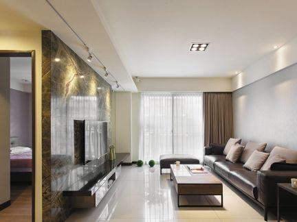 最新客厅样板房设计效果图
