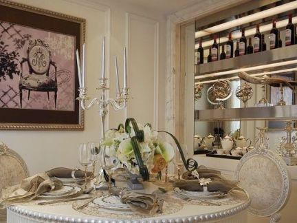 欧式餐厅家庭软装设计图片