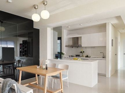 日式风格三居室餐厅厨房装修效果图-2017日式厨房装修 房天下装修