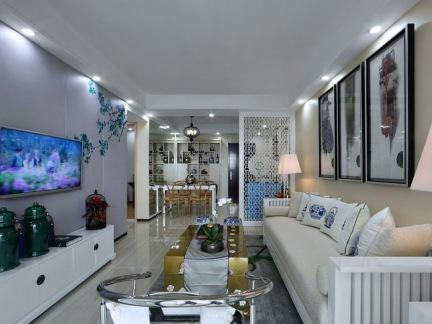 新中式家装客厅效果图片欣赏
