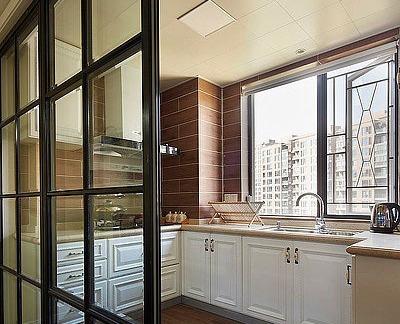 2016小厨房玻璃隔断效果图-房天下装修效果图图片
